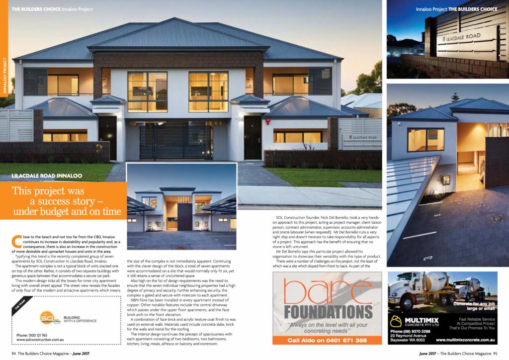 BuildersChoice Magazine Editorial Page 1