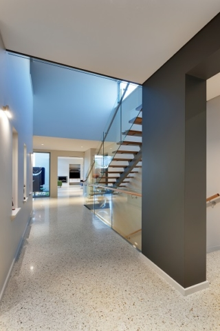 Beautiful finish and styling of hall and staircase inside new custom home in Dianella.