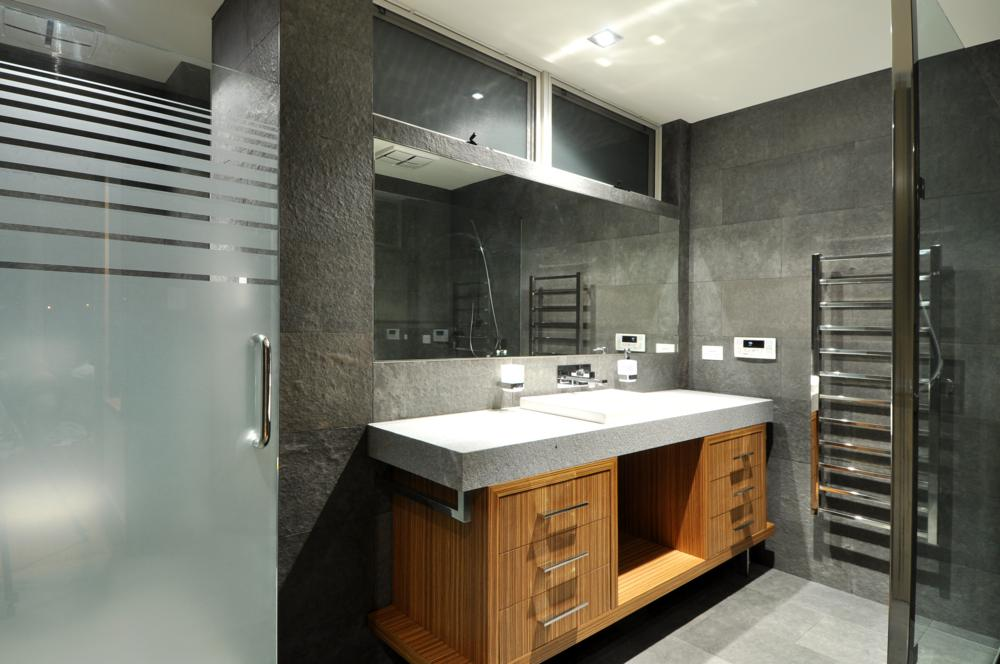 sophisticated second bathroom design.