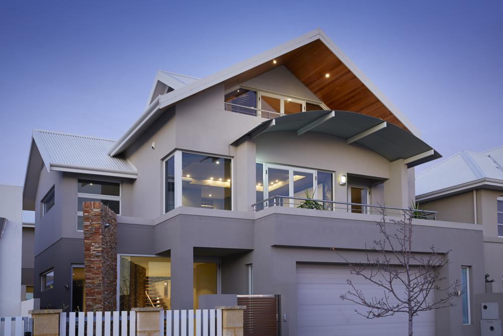 two story custom home by Sol Construction.