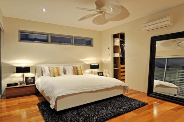 master bedroom in custom renovated mt hawthorn home.