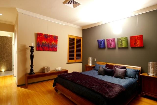 Master bedroom of narrow block build in Subicao