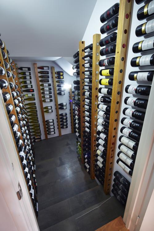 spacious wine cellar.